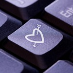 Heart and Arrow Symbol on computer key